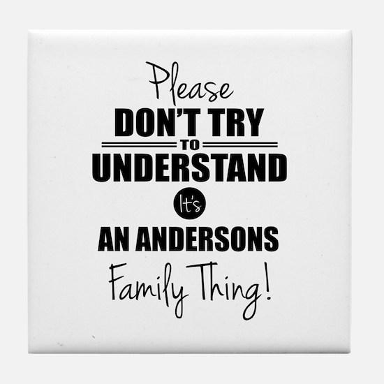 Custom Family Thing Tile Coaster