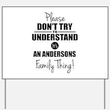 Custom Family Thing Yard Sign