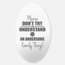 Custom Family Thing Sticker (Oval)