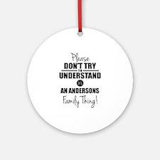 Custom Family Thing Ornament (Round)