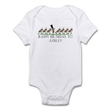 Happy Birthday Ashley (ants) Infant Bodysuit