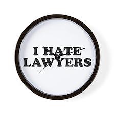 I Hate Lawyers - Wall Clock