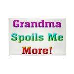 Grandma Spoils Me Rectangle Magnet (10 pack)