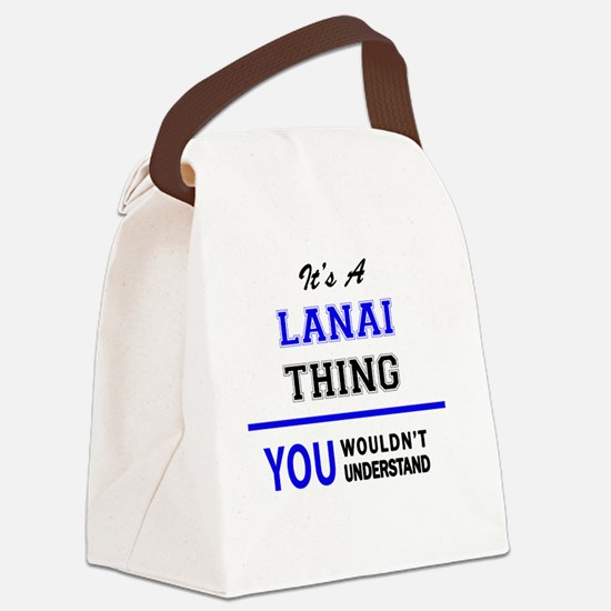 Cute Lanai Canvas Lunch Bag