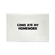 cows ate my homework Rectangle Magnet (10 pack)