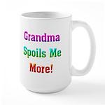 Grandma Spoils Me Large Mug
