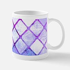 Purple Tiled Geometric Design Mugs