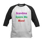 Grandma Spoils Me Kids Baseball Jersey