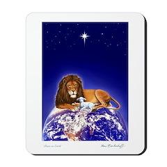 'Peace on Earth' Lion & Lamb ~ Mousepad