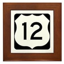 US Route 12 Framed Tile