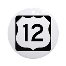 US Route 12 Ornament (Round)
