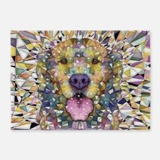 Rainbow Dog 5'x7'Area Rug