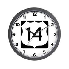US Route 14 Wall Clock