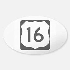 US Route 16 Sticker (Oval)