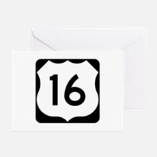 US Route 16 Greeting Cards (Pk of 10)
