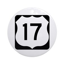 US Route 17 Ornament (Round)