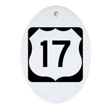 US Route 17 Ornament (Oval)