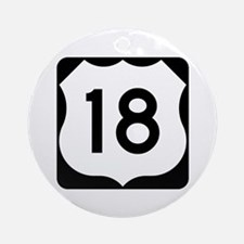 US Route 18 Ornament (Round)