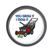 I MOW IT Wall Clock