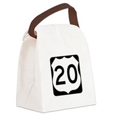 US Route 20 Canvas Lunch Bag