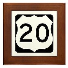 US Route 20 Framed Tile