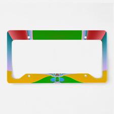 Abstract Art Magic Way License Plate Holder
