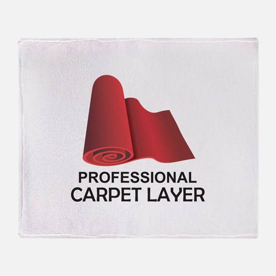PROFESSIONAL CARPET LAYER Throw Blanket