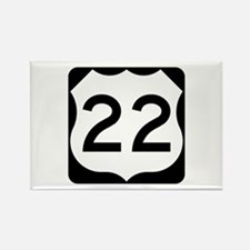 US Route 22 Rectangle Magnet