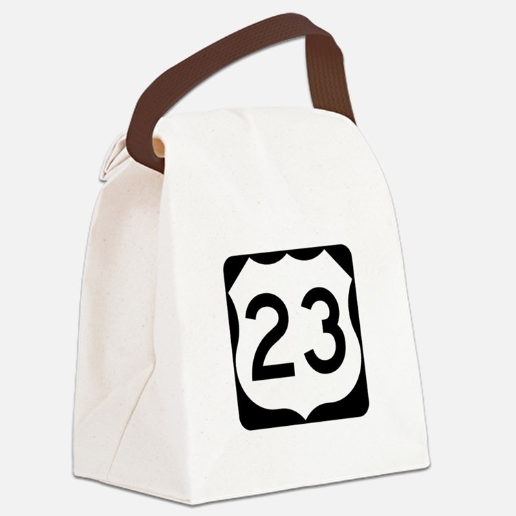 US Route 23 Canvas Lunch Bag