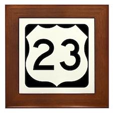US Route 23 Framed Tile