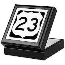 US Route 23 Keepsake Box