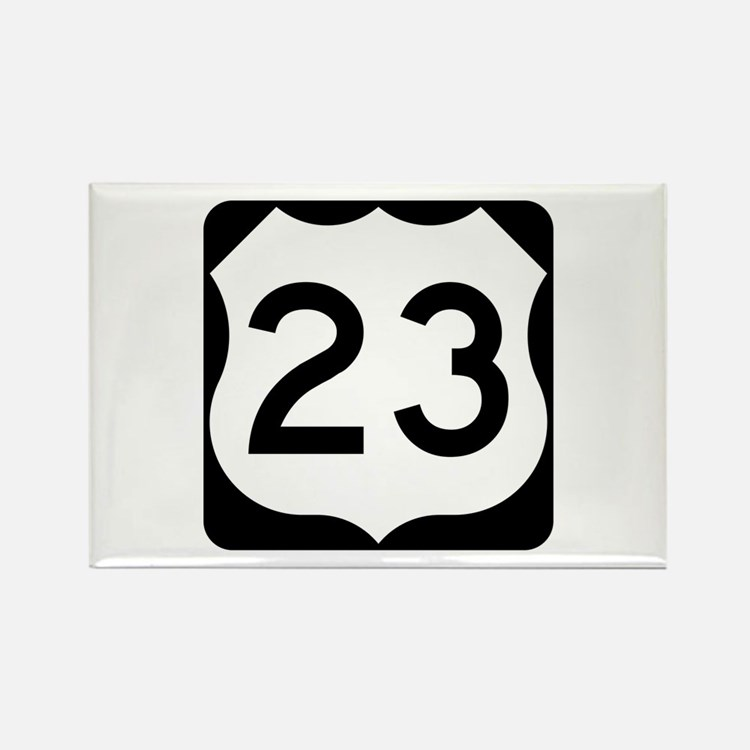 US Route 23 Rectangle Magnet