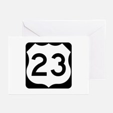 US Route 23 Greeting Cards (Pk of 10)