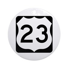 US Route 23 Ornament (Round)
