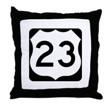 US Route 23 Throw Pillow