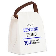 Cool Lent Canvas Lunch Bag