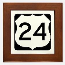 US Route 24 Framed Tile