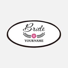 Custom Bride with Flower Wreath Patches