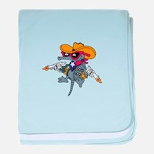 TEXAS ARMADILLO baby blanket