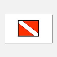 SMALL DIVE FLAG Car Magnet 20 x 12