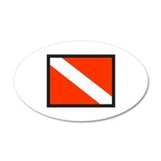 SMALL DIVE FLAG Wall Decal