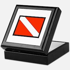 SMALL DIVE FLAG Keepsake Box