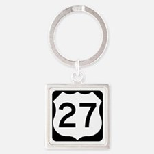 US Route 27 Square Keychain