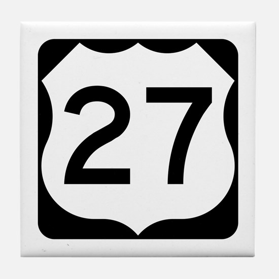 US Route 27 Tile Coaster