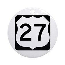 US Route 27 Ornament (Round)