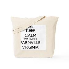 Keep calm we live in Farmville Virginia Tote Bag