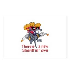 NEW SHERIFF IN TOWN Postcards (Package of 8)