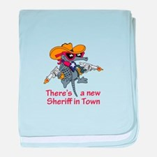 NEW SHERIFF IN TOWN baby blanket