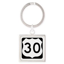 US Route 30 Square Keychain