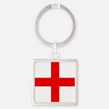 Cute Red cross Square Keychain